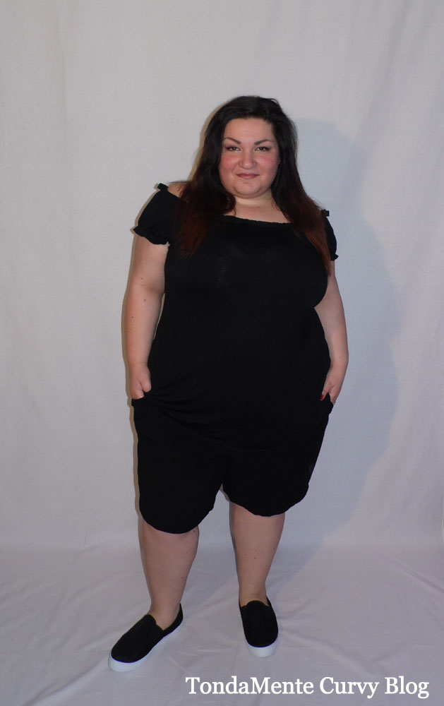 Plus Size Curvy Outfit Casual Shorts and T-Shirt